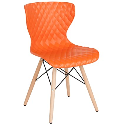 Flash Furniture Bedford Contemporary Design Orange Plastic Chair With Wooden Legs Beauteous Bedford Bedroom Furniture Creative Plans