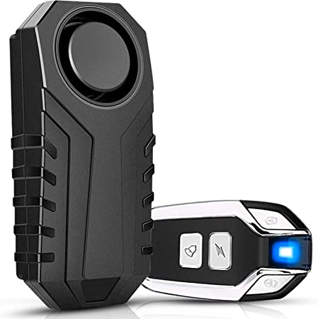 Motorcycle Bicycle Wireless Remote Control Vibration Alarm Anti-Theft Safe 113dB