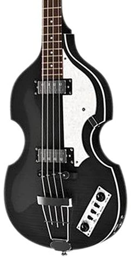 Hofner ignitionbk encendido eléctrico violín Bass guitarra, diapasón de palisandro, acabado en negro