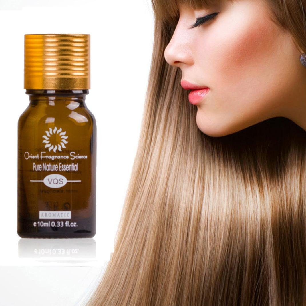Hair Growth Oil, CYCTECH 10ML Most Effective Asia's No.1 Hair Growth Serum Oil 100% Natural Extract (Brown)
