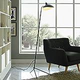 MFL-1 Floor Lamp Restoration Vintage Light Mid century modern furniture scandinavian (Black)
