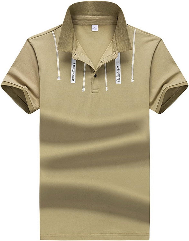 Adam Woolf Printed Polos Mens Polo Shirts Cotton Classical Men Plus Size M-3Xl Fashion Polo Shirts Short Sleeve