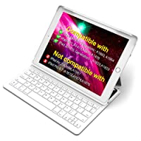 """Inateck iPad Keyboard Case for 9.7"""" iPad 2018(Gen 6)/iPad 2017(Gen 5) and iPad Air 1 with intelligent magnetic switch iPad keyboard cover,Light Grey"""