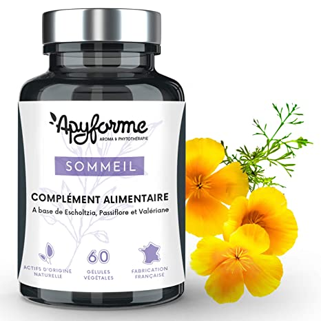 Apyforme - Suplemento alimenticio para el sueño - Valeriana, pasiflora y escoltzias - 3 principios