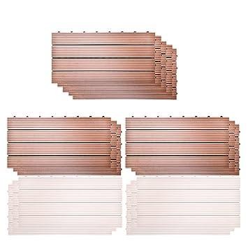 SIENOC Sets de dalles de terrasse bois composite WPC Jardin(11x300 600 22mm 2c8c9c4f8ceb