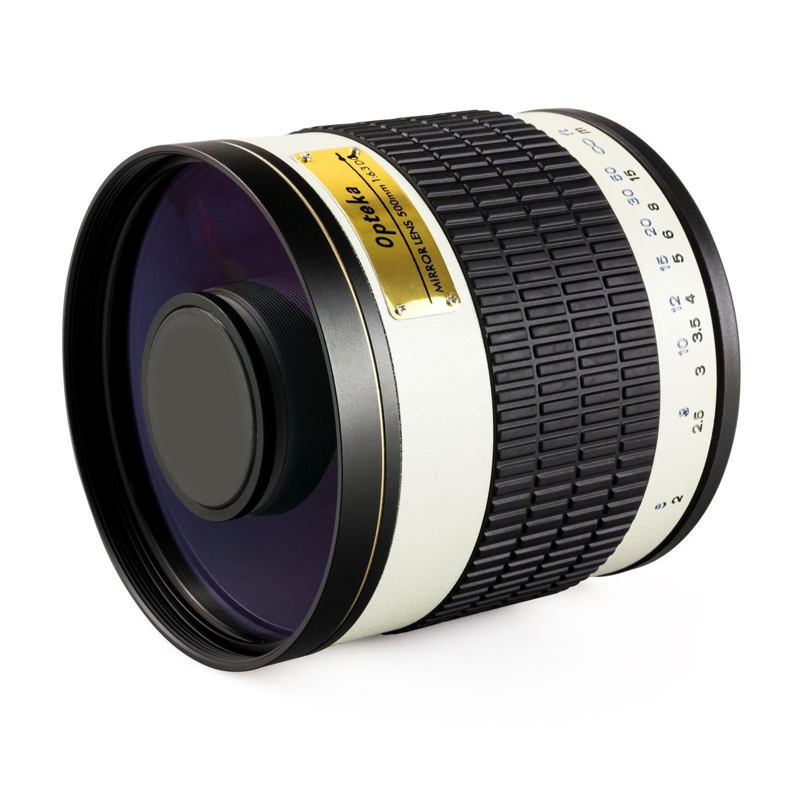 Opteka 500mm f/6.3 HD Telephoto Mirror Lens for Panasonic Lumix DMC G9, GH5, GX850, G85, GX8, G7, GM5, GH4, GX7, GH3, GH1, Olympus PEN E-PL7, P5, PL5, PM2, PL1, PL2 Micro Four Thirds Digital Cameras
