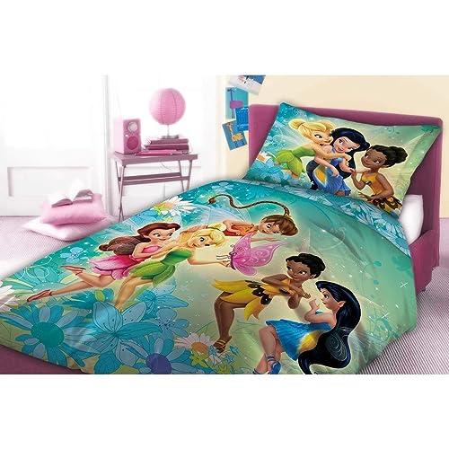 Unbekannt Faro Original Disney Fairies fées fée Clochette Parure de lit 160x 200Neuf certifié Öko-Tex, Plus de Couleurs, Coton 200x 160cm