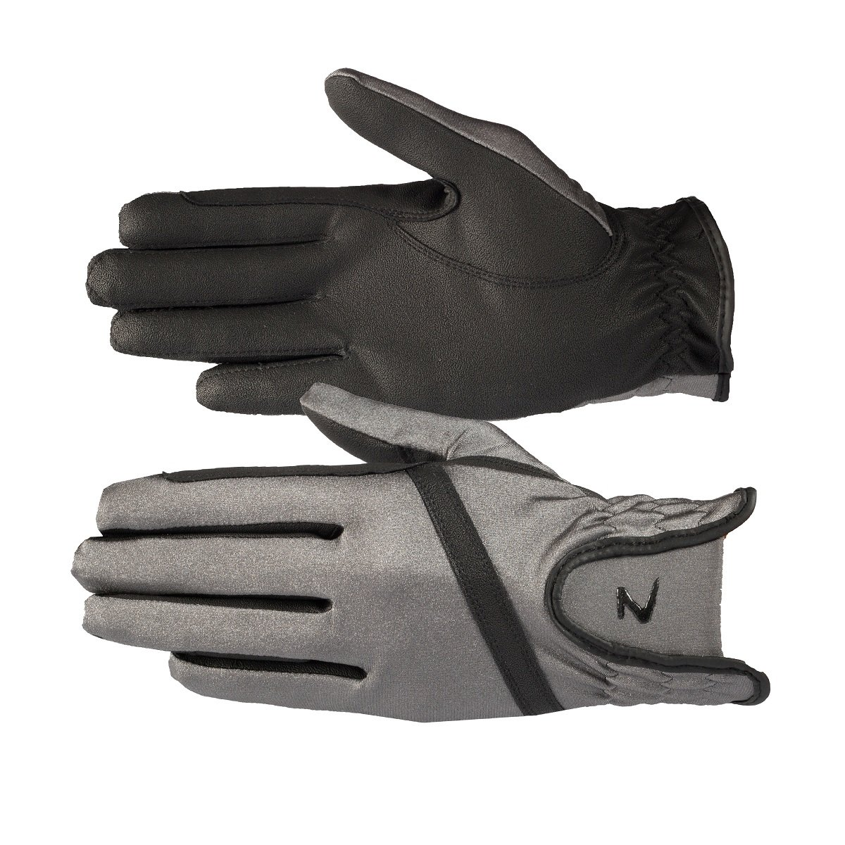 Horze Women's Ladies Evelyn STEEL GREY Stretchy Breathable Summer Riding Gloves (Size 9)