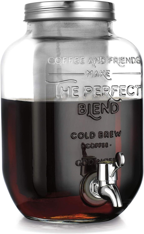 Godinger Cold Brew Coffee Maker, Iced Coffee Dispenser - 1 Gallon (3.78L)