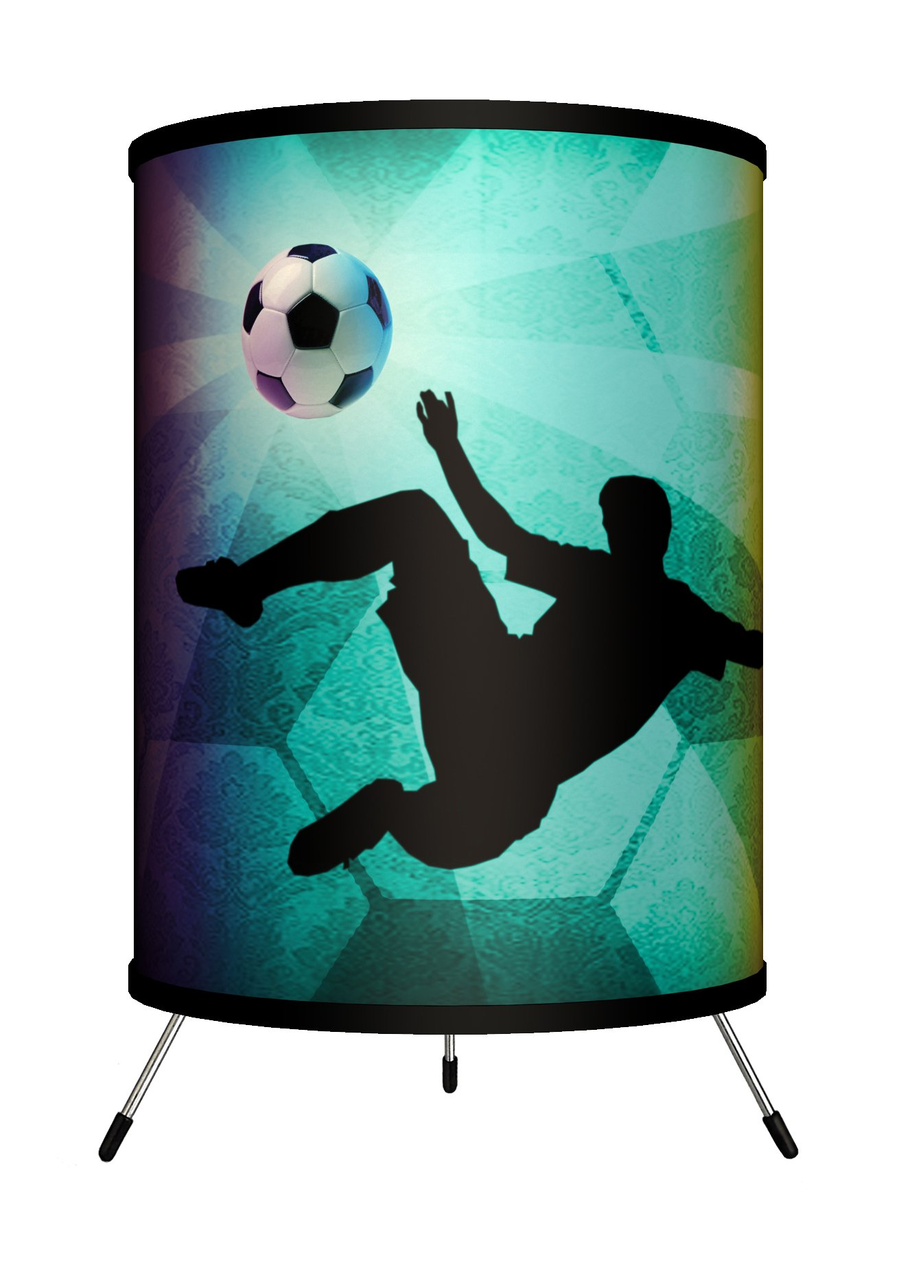 Lamp-In-A-Box TRI-SPO-SOCKI Sports - Soccer Kick Tripod Lamp, 14'' x 8'' x 8''