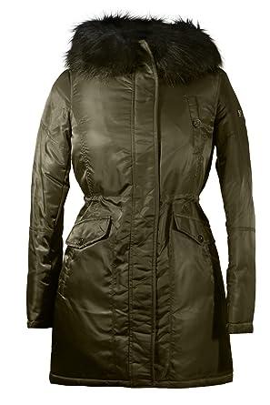 acbe49771559 Amazon.com  Diane von Furstenberg Daisy Olive Puffer Coat  Clothing