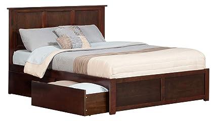 Amazon Com Atlantic Furniture Ar8642114 Madison Platform Bed With 2