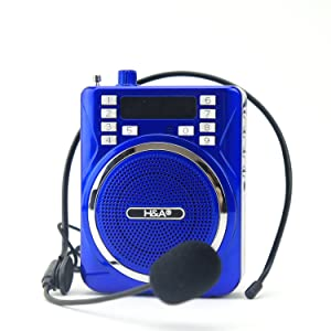 Portable PA System AM FM Radio Speaker Music Player with USB TF Card Slot, Microphone Included