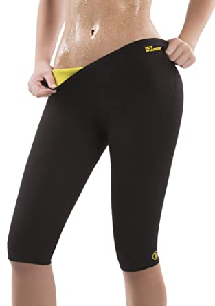 702b89f75fed6 Amazon.com  Hot Shapers Women s Thermal Slimming Pants – High Waist Tummy  Control Activewear Capris  Clothing