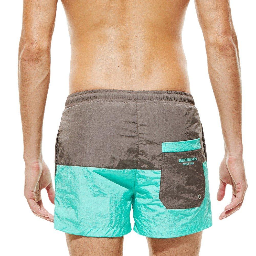 LEORTKS Ba/ñador Hombre Cosiendo Playa Deportiva Pantalon Corto Hombre Deporte Secado R/ápido Ba/ñadores Natacion Ligero Moda Shorts
