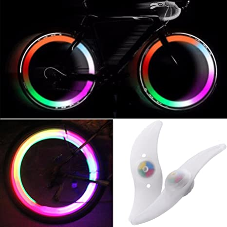 2 Pack Wheel Spoke Lights Colour Changing LED Bike Bicycle Wheel Light