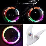 TRIXES YPaar LED Fahrradspeichen-Lichter die die Farbe wechseln