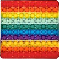 Large Pop It Fidget Toy, Kids Toys, Push Pop Bubble Sensory Toys, Rainbow Colour Square 20×20cm