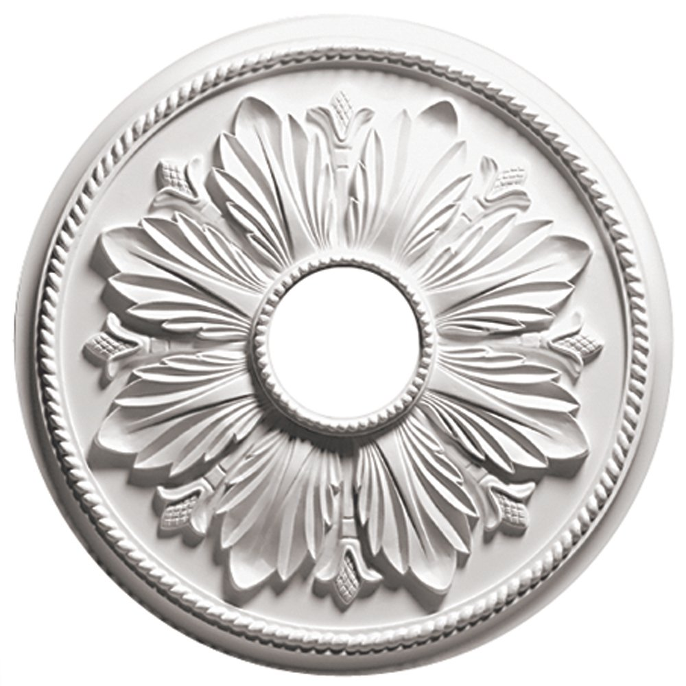 Focal Point 81618 18-Inch Renaissance Medallion 17 7/8-Inch by 17 7/8-Inch by 1 1/8-Inch, Primed White