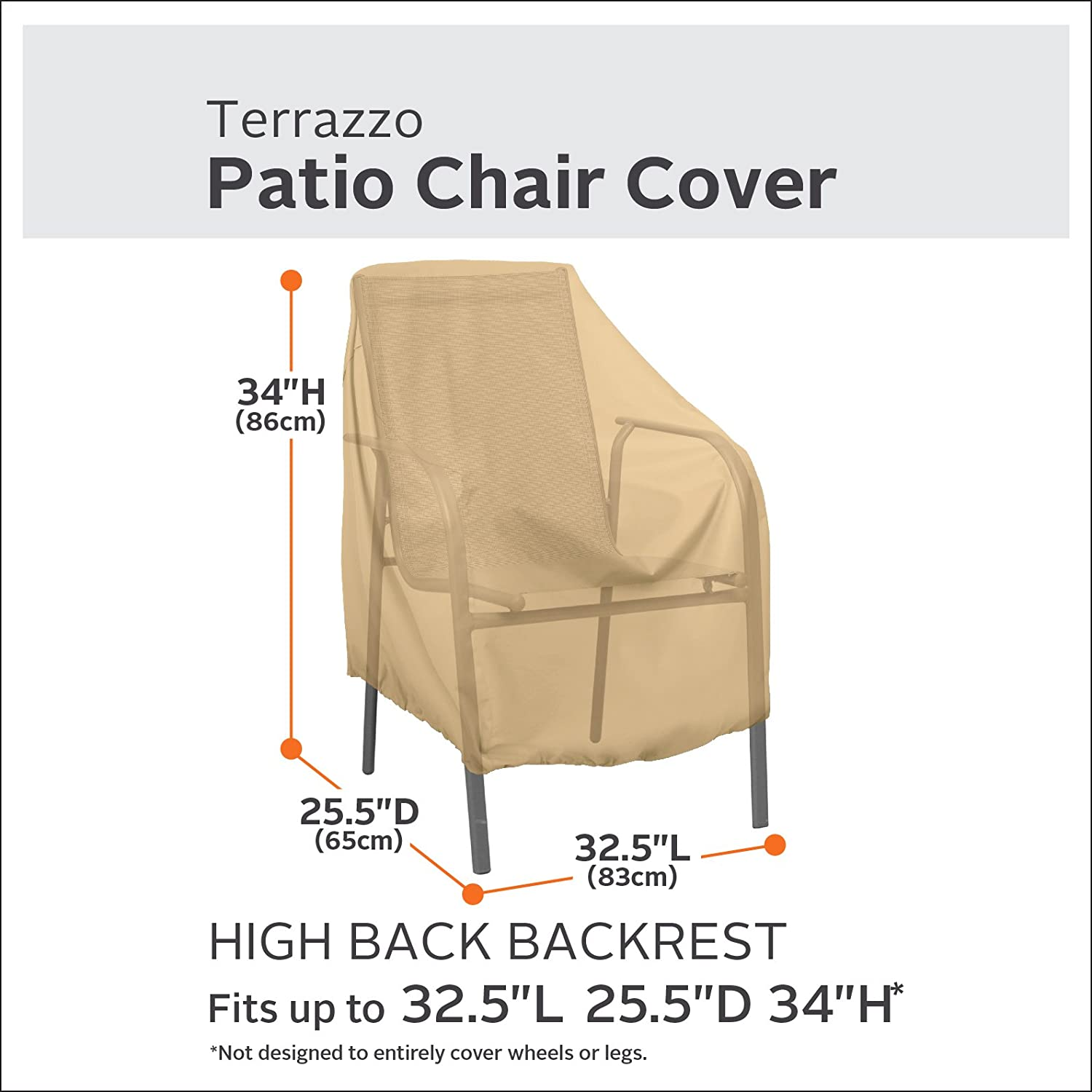 Amazon.com : Classic Accessories Terrazzo High Back Patio Chair Cover   All  Weather Protection Outdoor Furniture Cover (58932 EC) : Patio Furniture  Covers ...