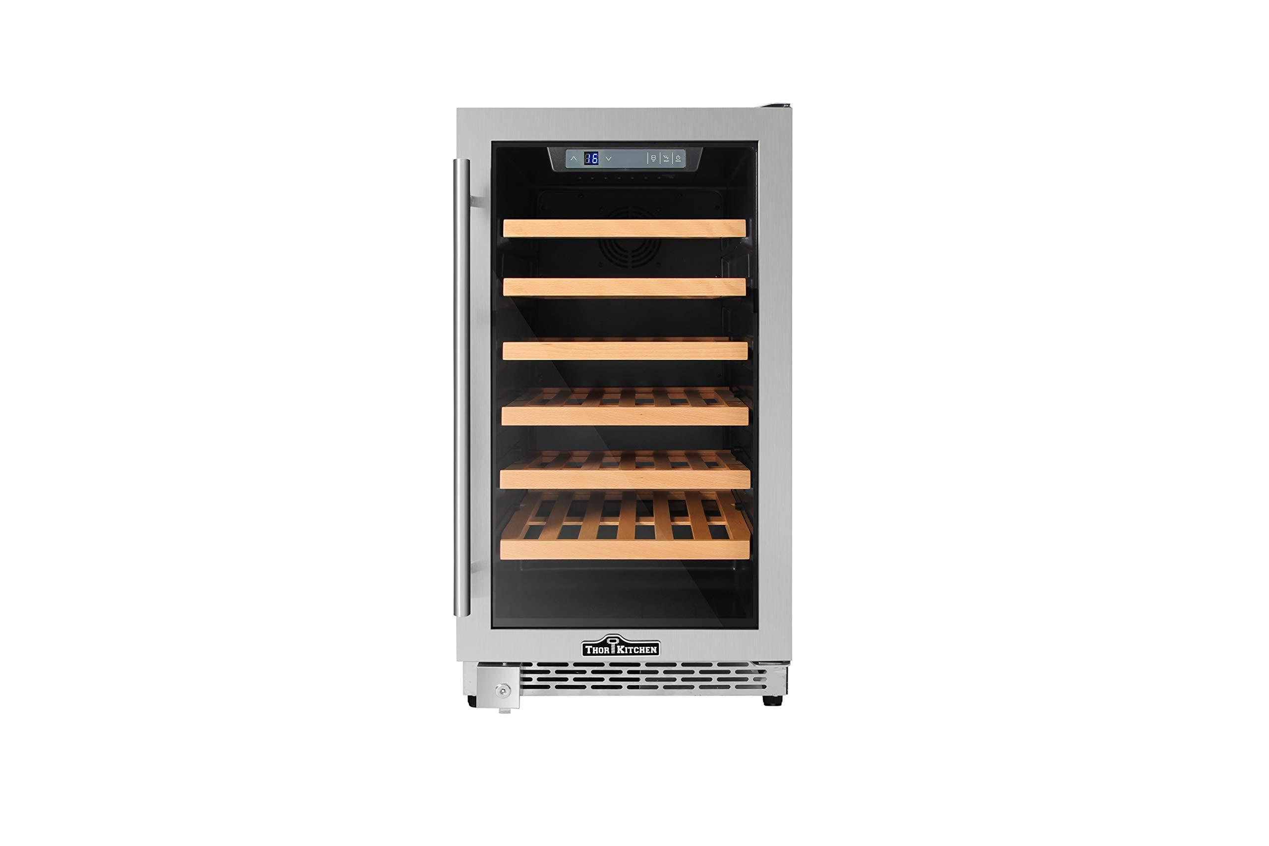 Thorkitchen HWC2405U 40 Bottles 18'' Built-in Wine Cooler, stainless steel
