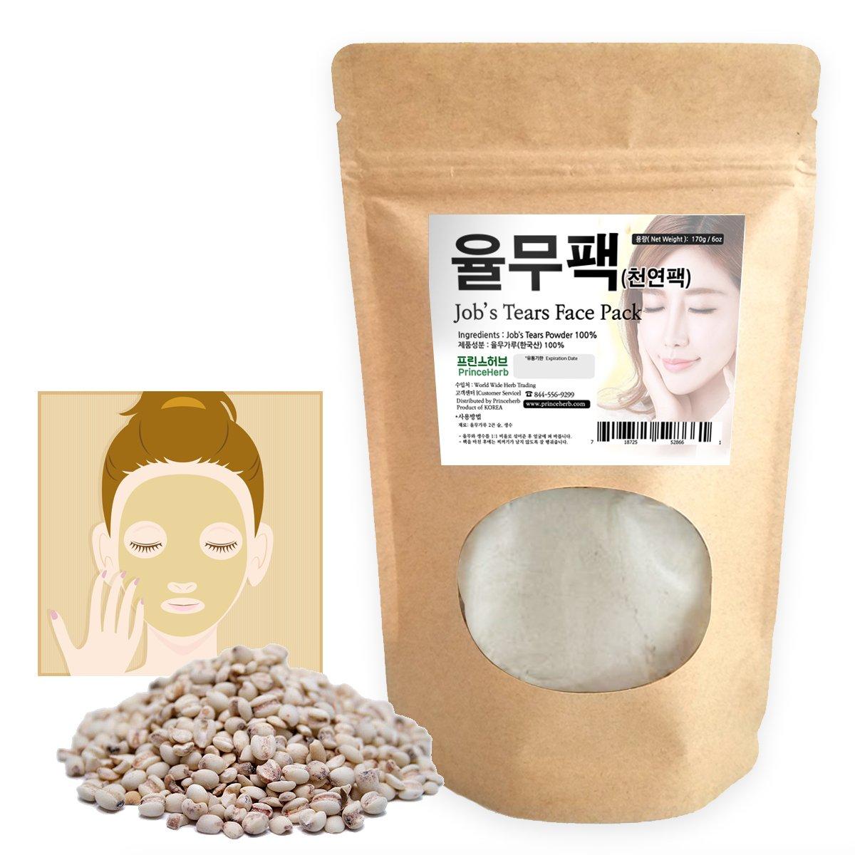 [Medicinal Korean Herbal Powder] 100% Natural Job's Tears Powder for facial mask / 율무팩, 6oz ( 170g )