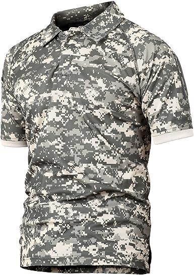 Caza de Combate táctico Militar Caza Manga Corta Held Airsoft Camuflaje Camiseta Uniformes tácticos Ropa Deporte al Aire Libre para Multicam ACU XXXX-Large: Amazon.es: Ropa y accesorios