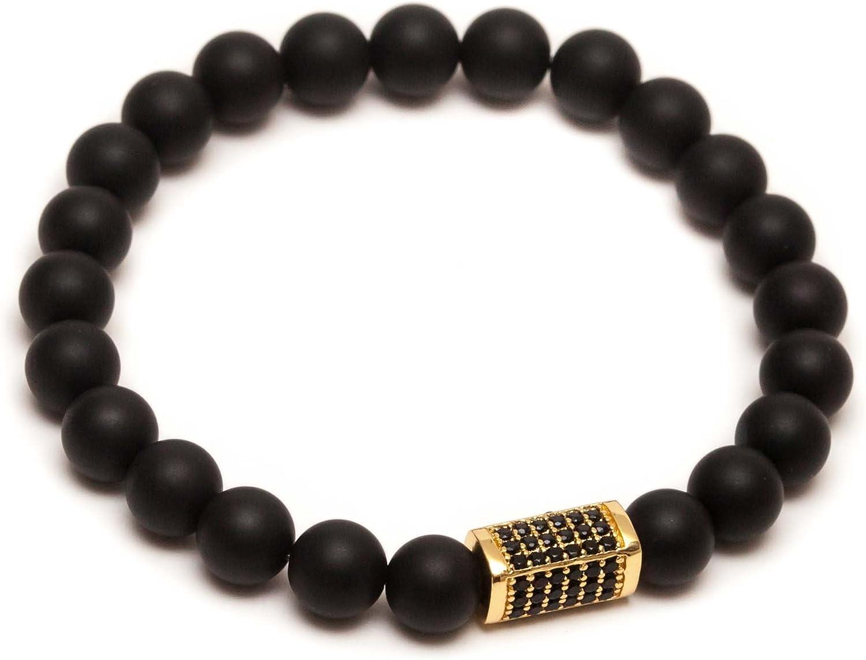 ZENGER 18kt Gold Plated Pillar Beaded Bracelet
