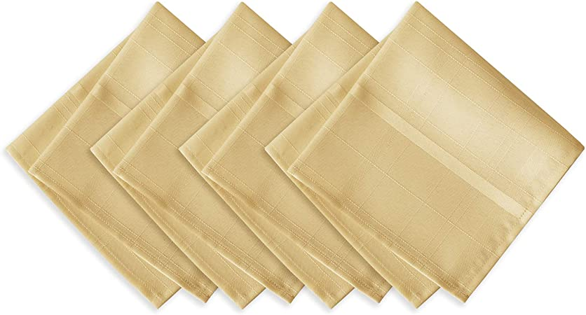 Gold Metalic Fabric Napkins pack of 6