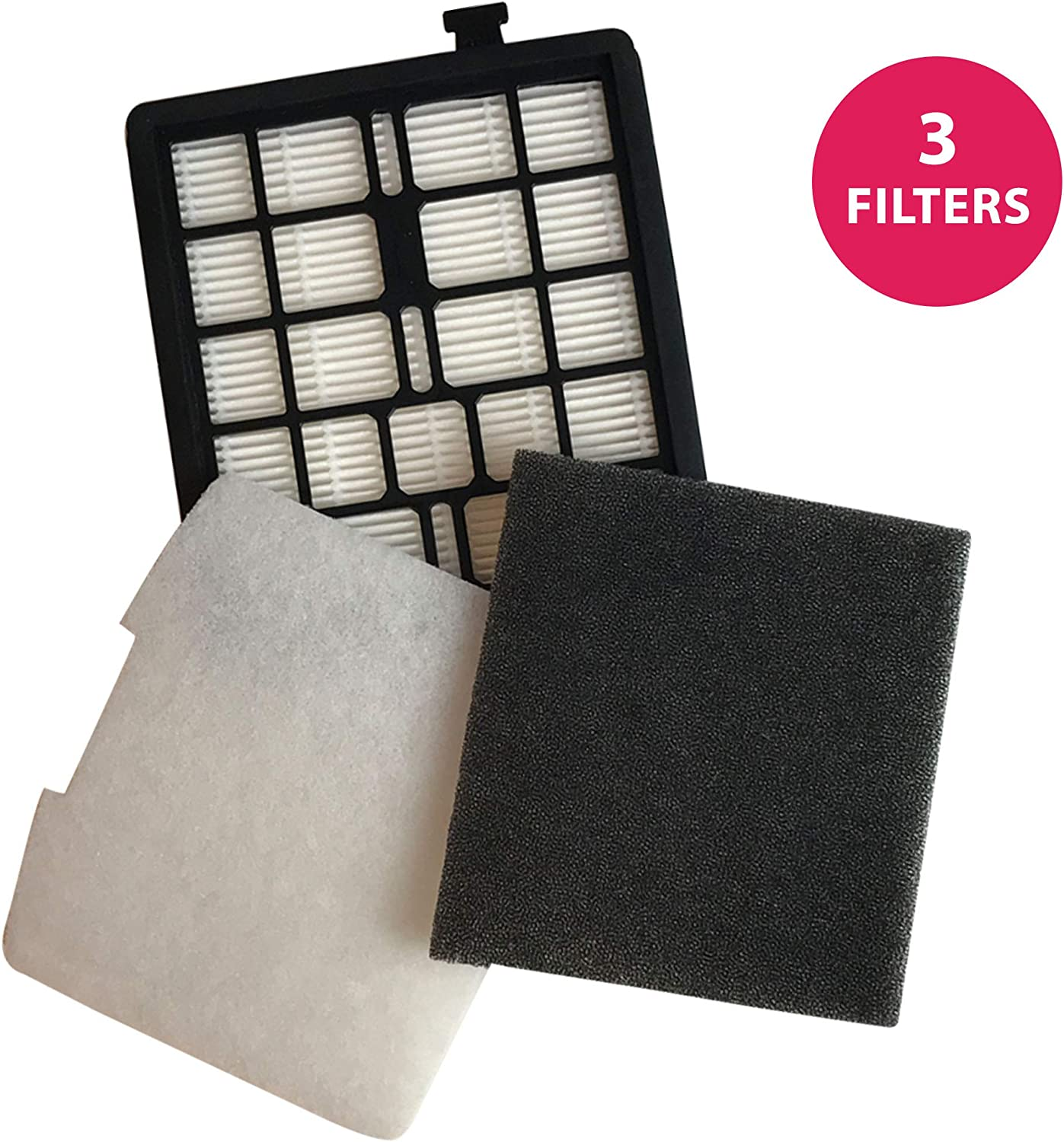 Think Crucial Replacement for Dirt Devil Style F45 HEPA Style Filter, Foam Pre-Filter, & Exhaust Filter, Compatible With Part # 2KQ0107000, 2KQ0104000 1KQ0106000