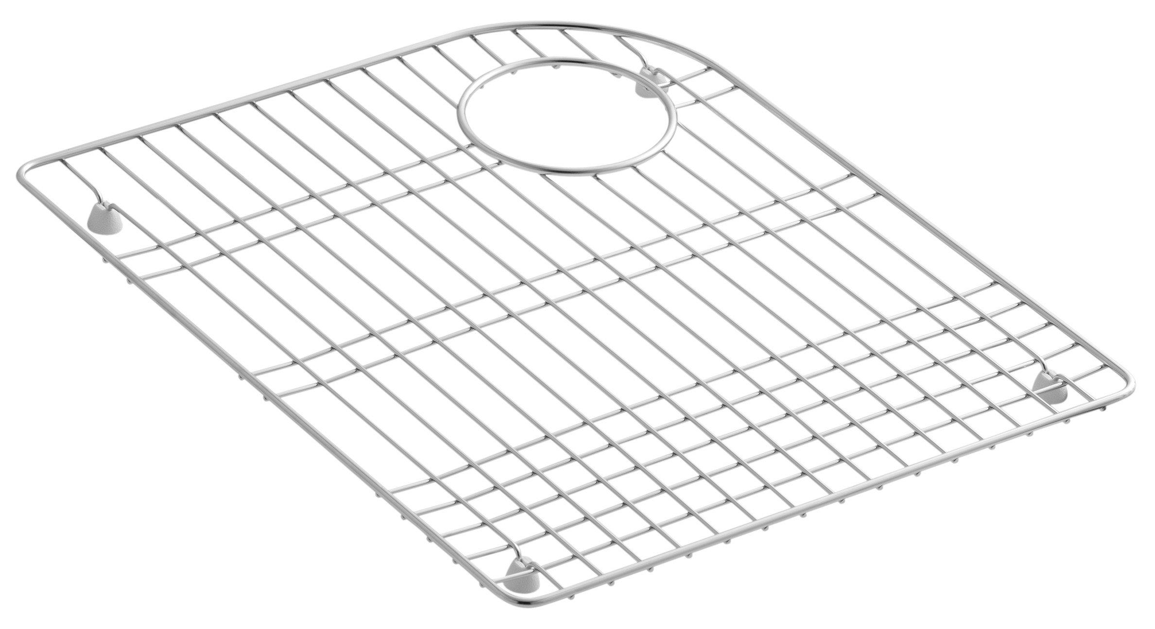 KOHLER K-6001-ST 14.7 Inches by 18 Inches Bottom Basin Rack, Stainless Steel