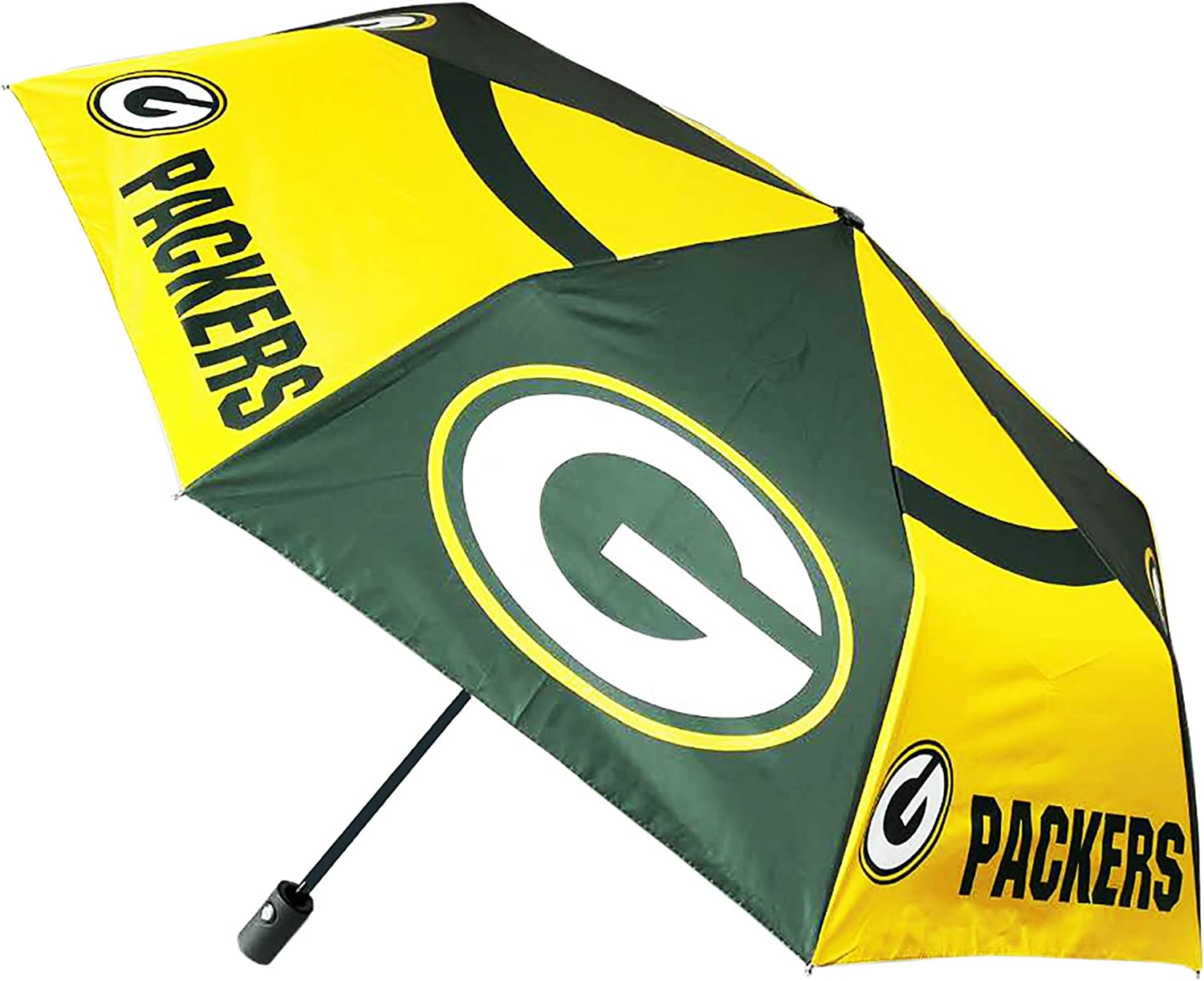 Football Team Auto Folding Umbrella Waterproof Sun - Resistant for Travel Outdoor (Green Bay Packers) : Sports & Outdoors