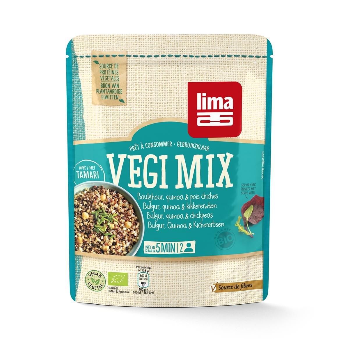 Bulgur, Quinoa y Garbanzos Vegi Mix Lima, 250 g: Amazon.es: Hogar