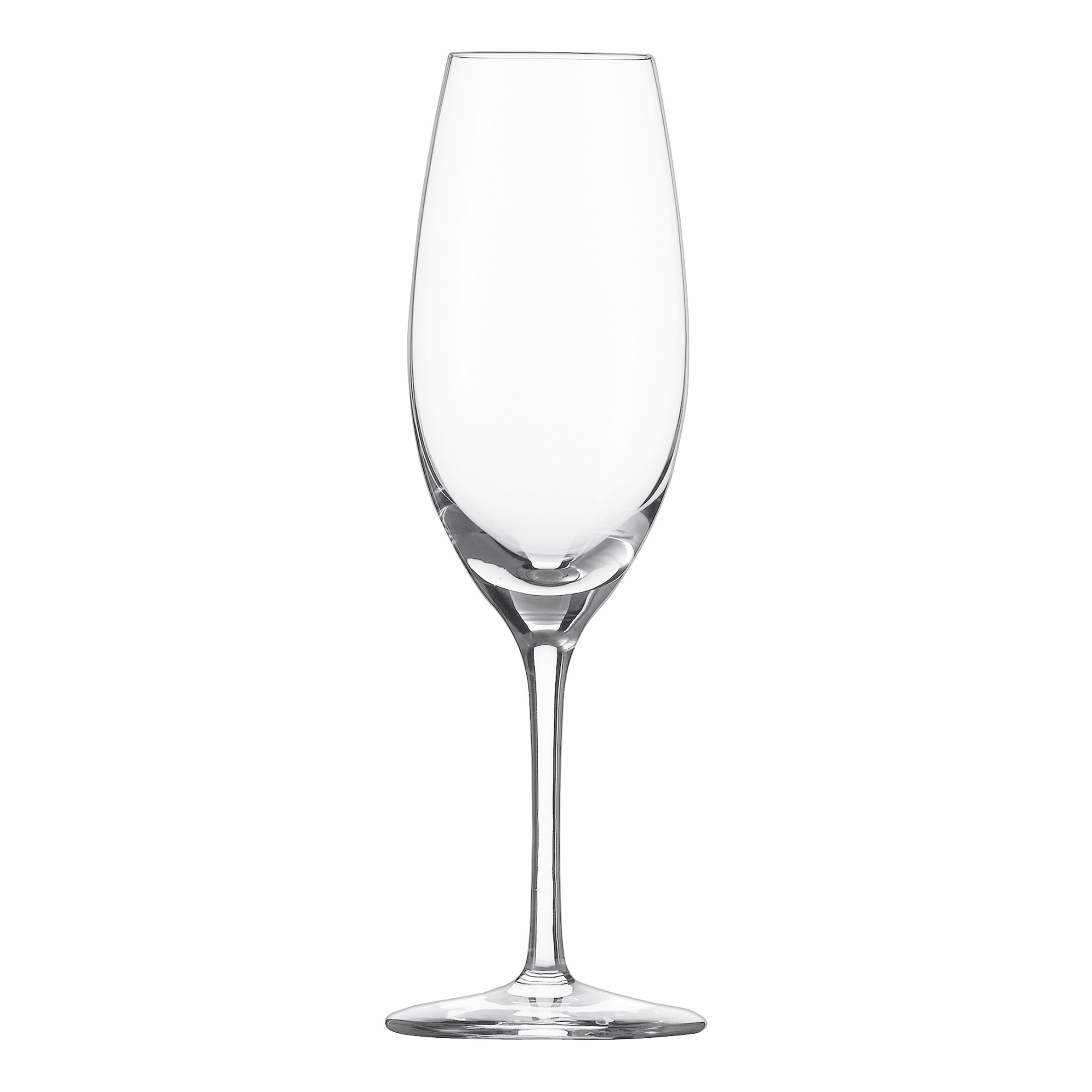 Schott Zwiesel Tritan Crystal Glass Cru Classic Stemware Collection Champagne Flute with Effervescence Points, 8.4-Ounce, Set of 6