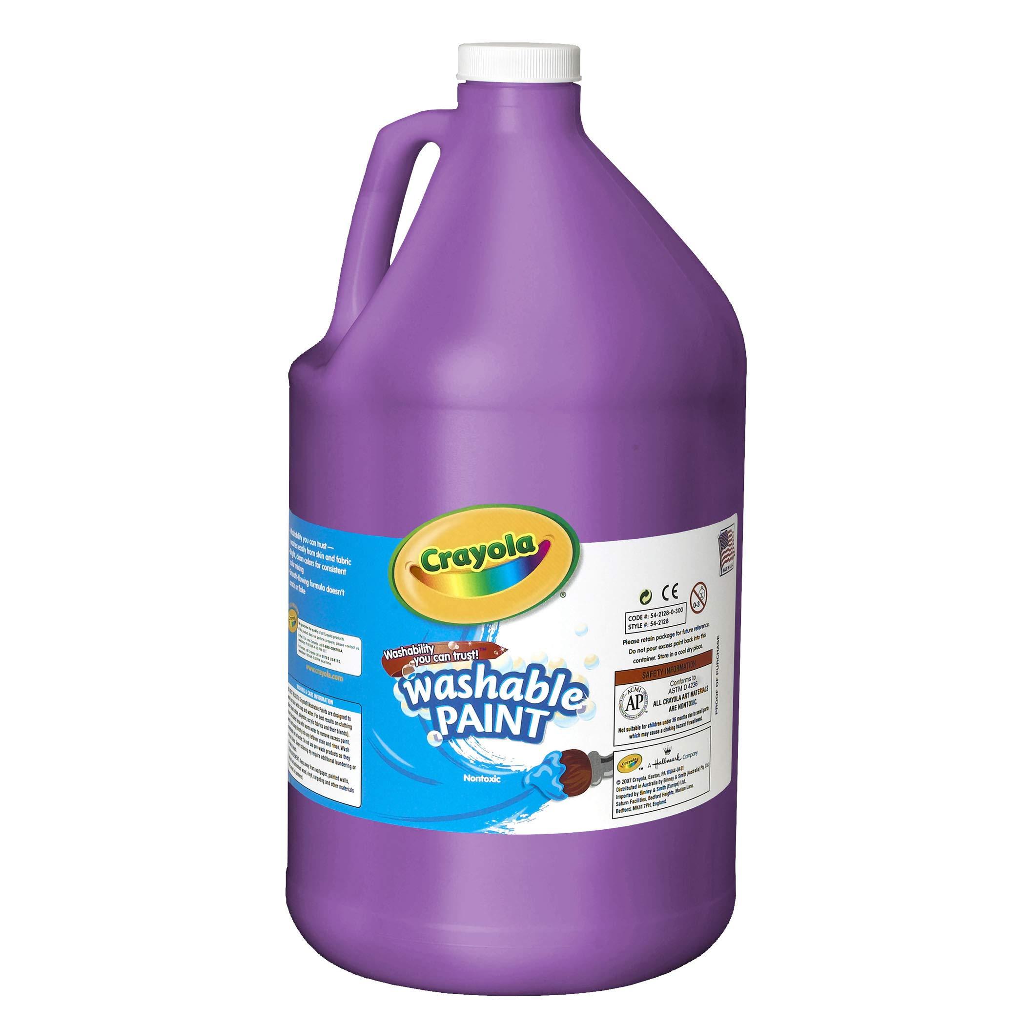 Crayola BIN212840 Washable Paint, Violet, Gallon