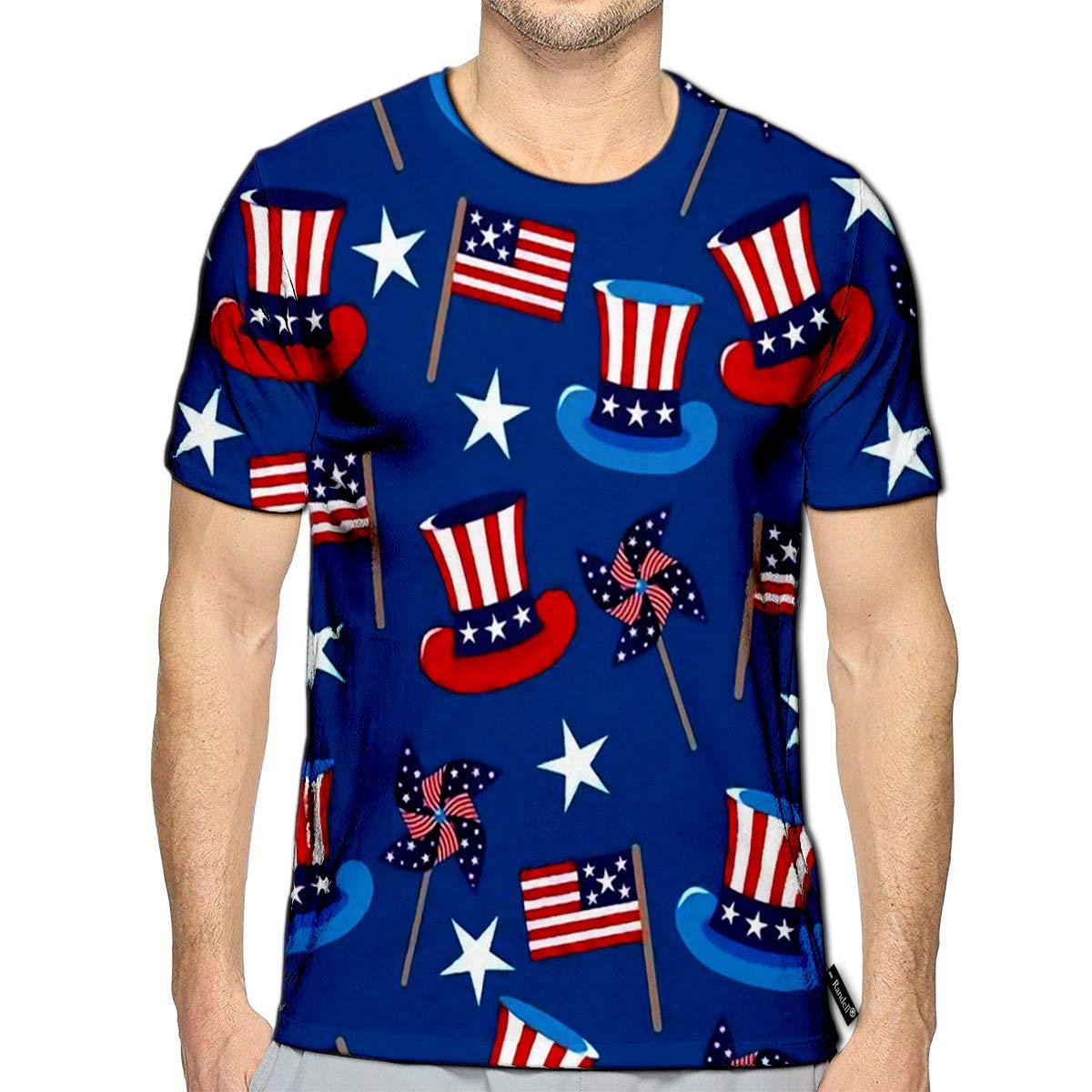 Randell 3D Printed T-Shirts California Surf Badge Short Sleeve Tops Tees