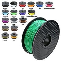 TIANSE Imprimante 3D Filament PLA 1.75mm 1KG, Vert