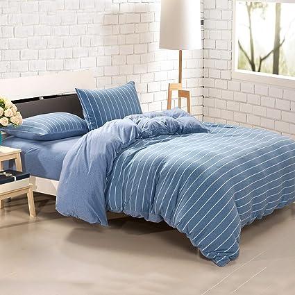 Amazon Com Pure Era Duvet Cover Set Jersey Knit Cotton 1 Comforter