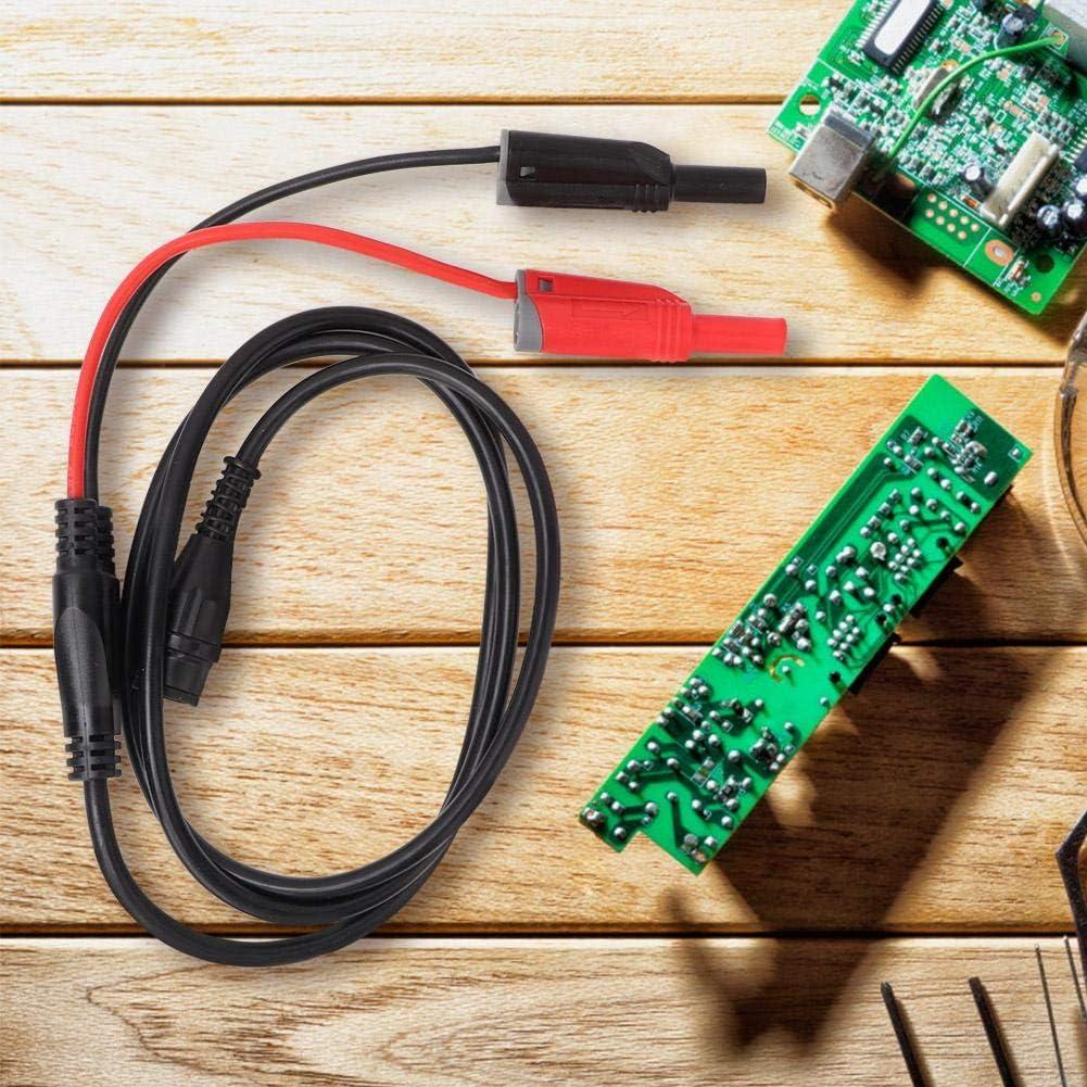Naroote BNC Male Plug to 4mm Banana Plug Clip Multimeter Test Lead Kit P1800D