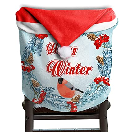 Stupendous Amazon Com Opkshnt Christmas Seat Cover Wish You Merry Bralicious Painted Fabric Chair Ideas Braliciousco
