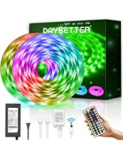 Led Strip Light Waterproof 600leds 32.8ft 10m Waterproof Flexible Color Changing RGB SMD 5050 600leds LED Strip Light Kit with 44 Keys IR Remote Controller and 12V Power Supply