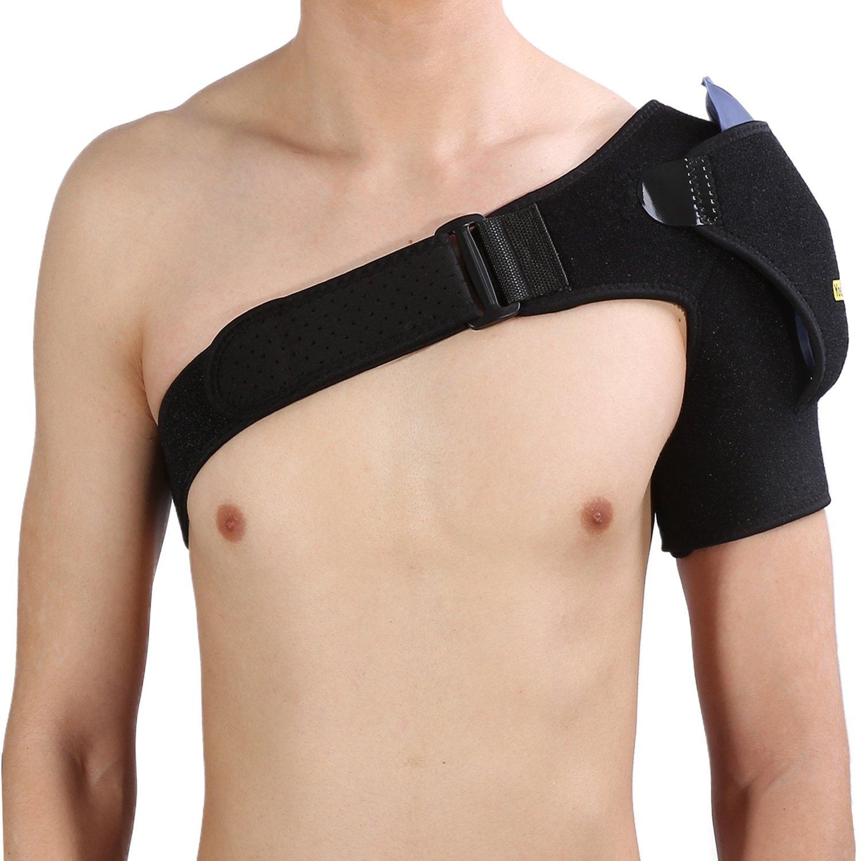 Yosoo É paulette de soutien d'é paule, respirant ré glable Bandouliè re de protection de ceinture d'é paule Bandage de sport Pré vention des blessures articulaires Douleur d'entorse et tendinite, Compatible Filfeel