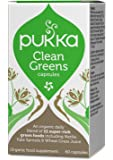 Pukka Herbs - Clean Greens - Organic Nettle, Kale Sprouts & Wheat Grass Juice - Pack of 60 Tablets