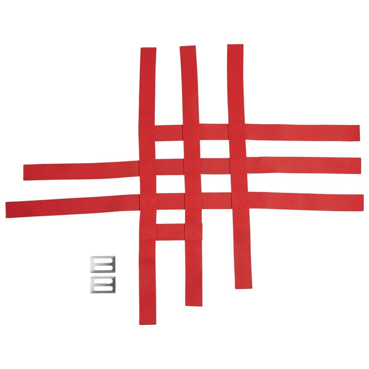 YAMAHA YFZ450X & YFZ450R RED REPLACEMENT NERF BAR WEBBING NETS 18PF11E4T000