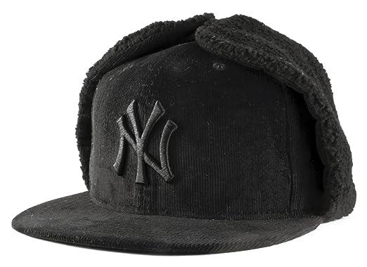 f02cf2a8 New Era 59Fifty New York Yankees MLB DogEar Black on Black Fitted Baseball  Cap Size 7