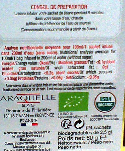 Provence dAntan Coffret M/étal Tisane Pyr/én/ées Bio 24 sachets
