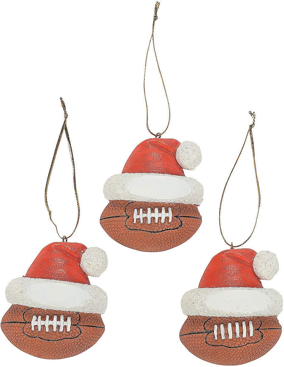 Amazon Com Football Christmas Ornaments Set Of 12 Sports Themed Holiday Decor Home Kitchen