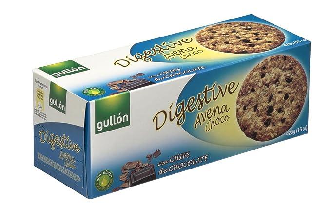 Gullón - Digestive Avena Choc - Galleta integral con avena, trigo y gotas de chocolate
