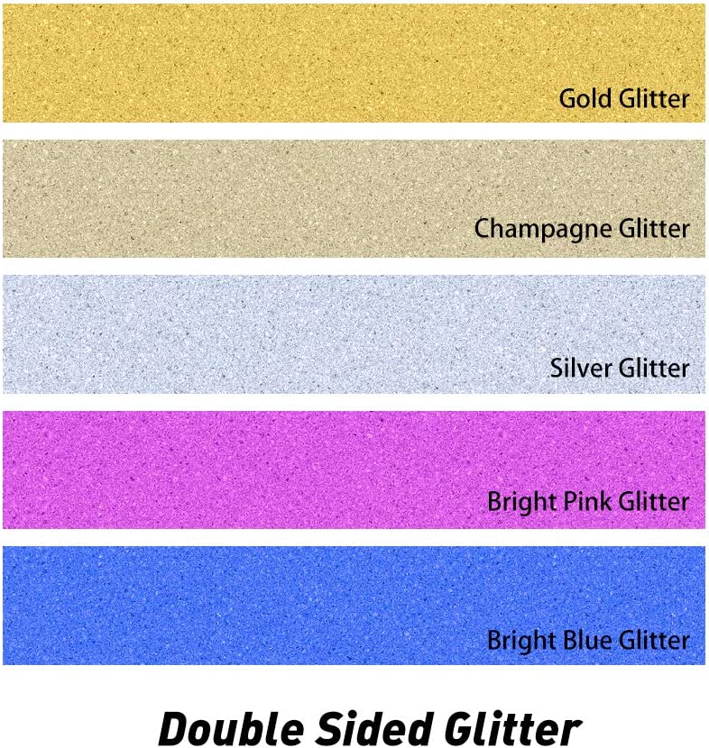 Personalise with Any Surname Made from 5 Colours 4mm Non-shed Double Sided Glitter Card Hand Finished in UK EDSG Personalised Wedding Cake Topper Anniversary Cake Decoration MR /& MRS Design
