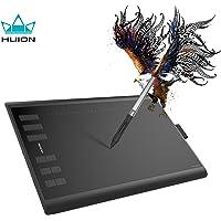 Huion Inspiroy H1060P Tableta Gráfica Tableta de dibujo sin batería con función de inclinación de sensibilidad a la presión 8192 12 teclas expresas, 10x6.25 pulgadas